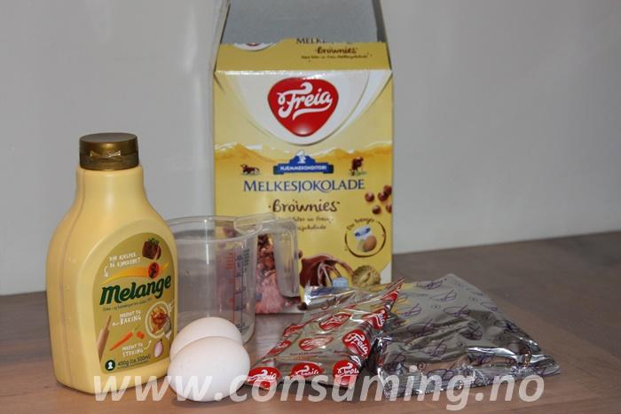 Melkesjokoladebrownies innhold