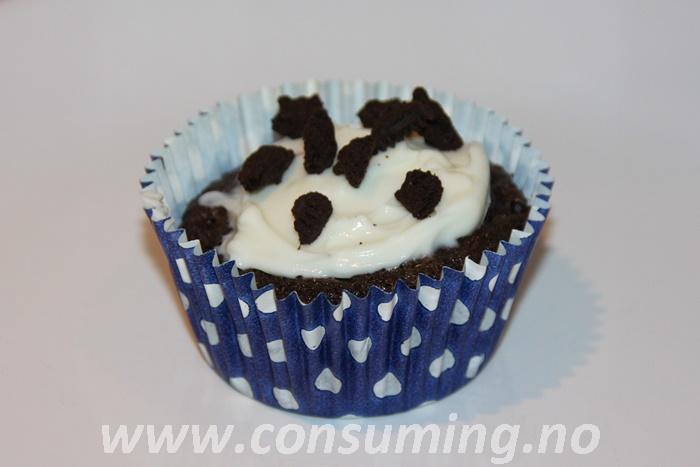 Oreo muffins ferdig