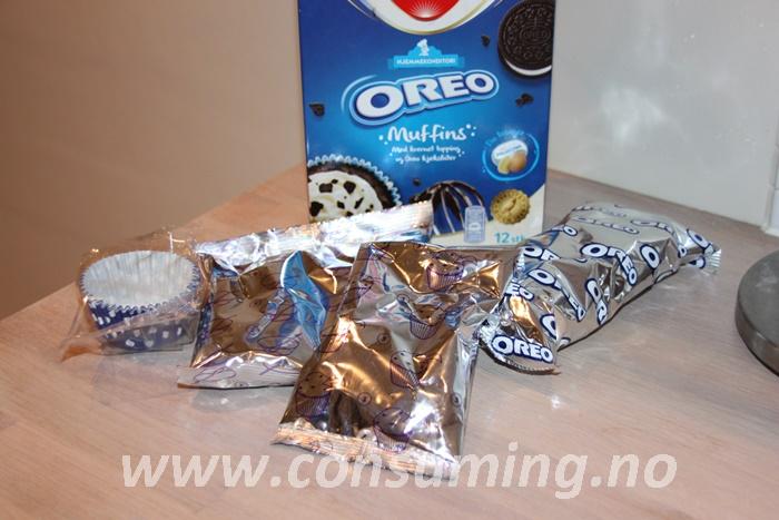 Oreo muffins innholdet i pakka