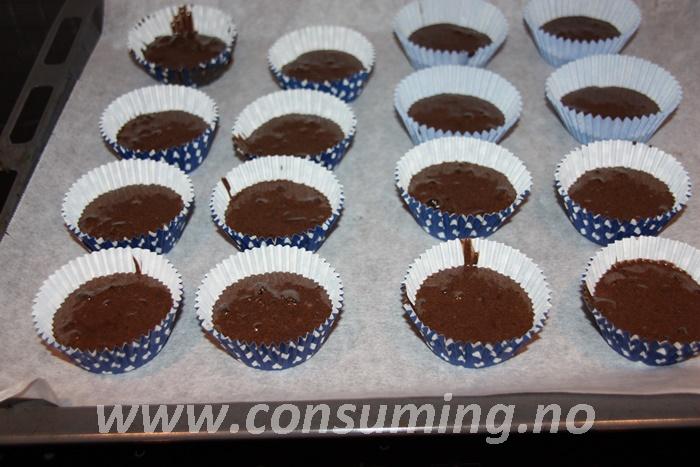 Oreo muffins klare til steking