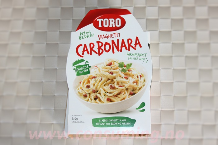 Spaghetti Carbonara ferdig