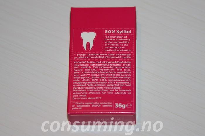 DentaFresh fra Läkerol baksiden
