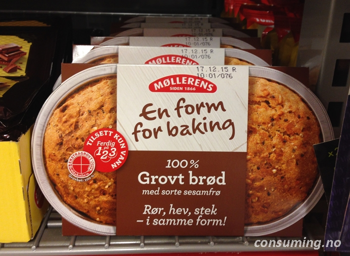 En form for baking grovbrød