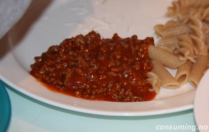 Pastasaus krydret på mat