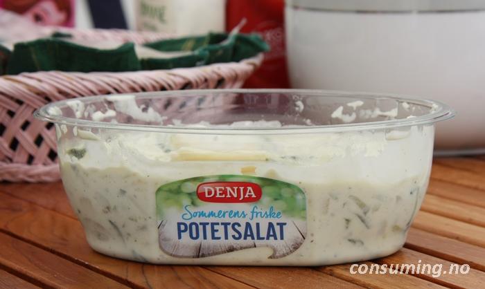 Potetsalat med agurk åpnet
