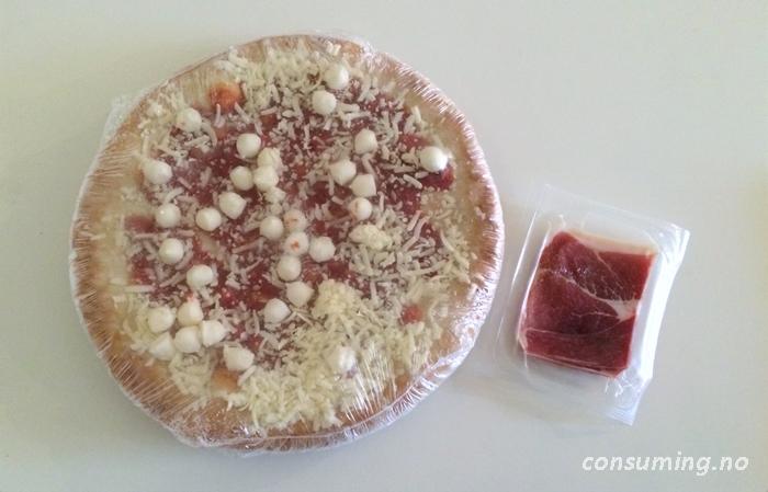 Pizzabakeriet tipo 0 med skinke