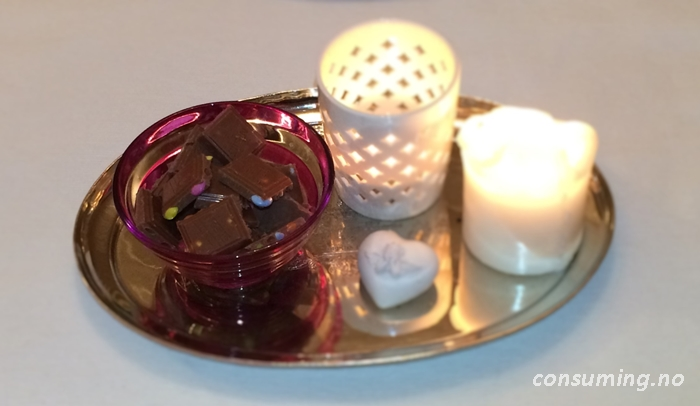 Smartiessjokolade i skål
