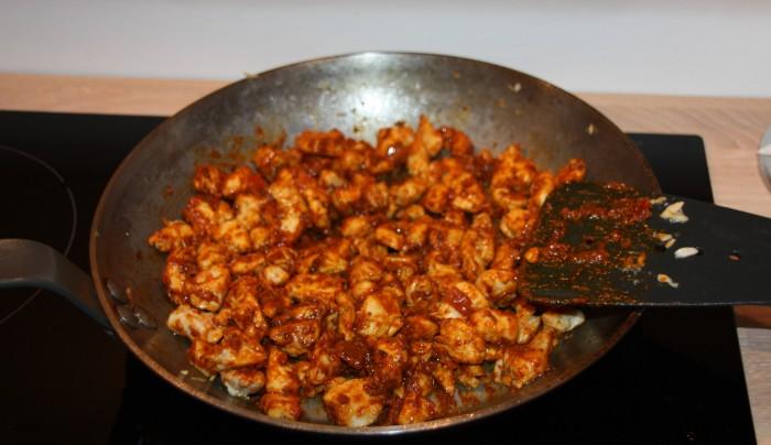 Tikka Wrap kit kjøttet