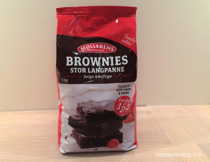 Stor Brownies fra Møllerens pose