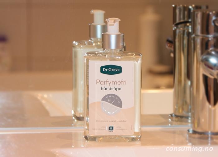 Dr Greve parfymefri håndsåpe på vasken