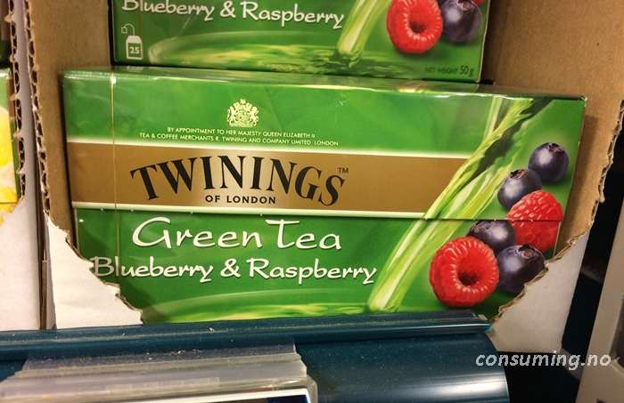 Twinings Green Tea Blueberry & Raspberry gammel boks