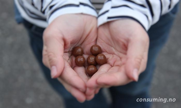 Smørbukkkuler i hånden