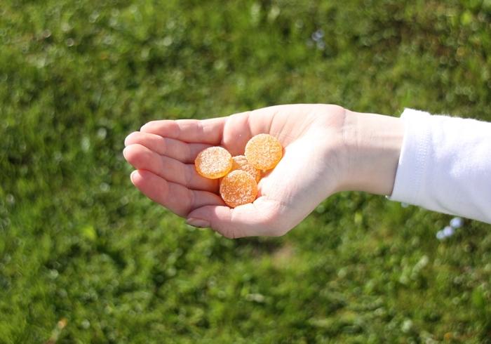 Dent Oi Appelsin i hånda