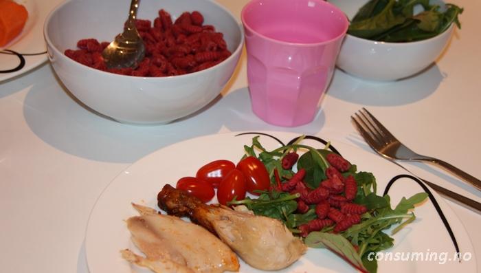 Grønnsakspasta med rotgrønnsaker klar