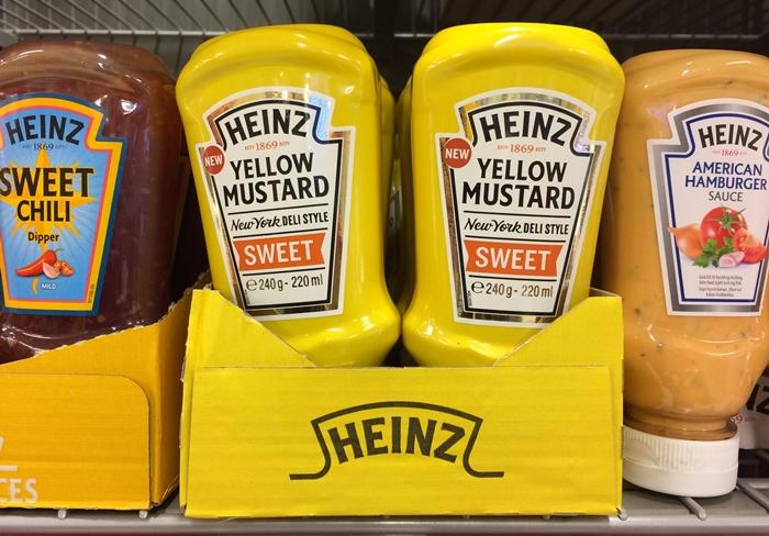 Yellow Mustard Heinz i butikken