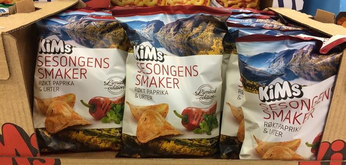 Sesongens smaker fra Kims Røkt paprika og urter i kartong